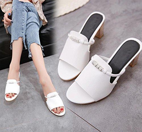 Moda Signore White Estiva Pantofole Con Di Pengweile Fresche Sandali nXqgWpzZ