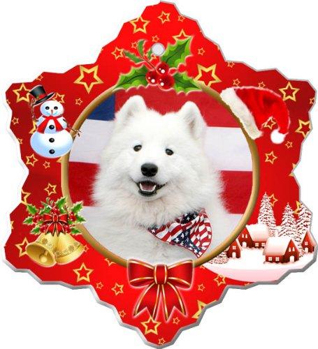 - American Eskimo Porcelain Holiday Ornament