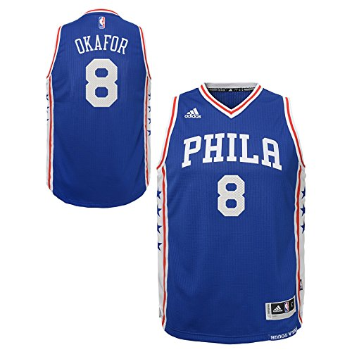 NBA Philadelphia 76ers Jahlil Okafor Boys Player Swingman Road Jersey, Large (14-16), (Philadelphia 76ers Swingman Jerseys)