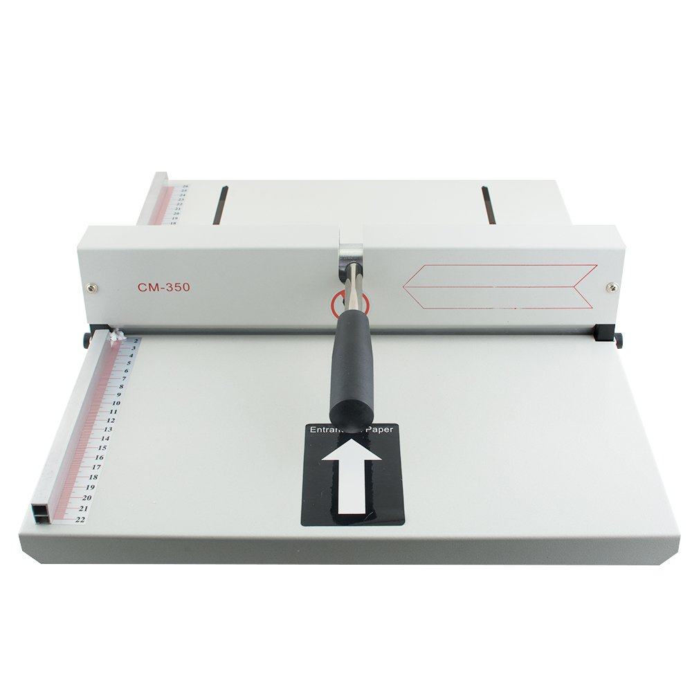 Genmine Creasing Machine Manual Paper Card Creaser Scorer 350mm, A4 Card Covers, High Gloss Covers for Paper Card Book Scoring