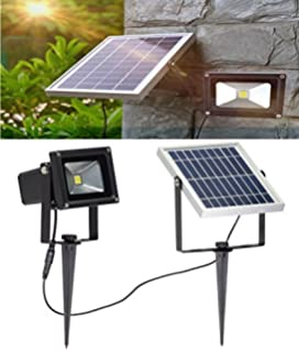 wlite 10w led solar flood lights outdoor security wall lamps 6000k