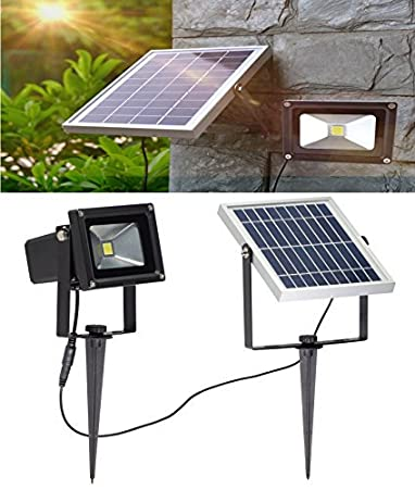 W Lite 10w Led Solar Flood Lights Outdoor Security Wall Lamps