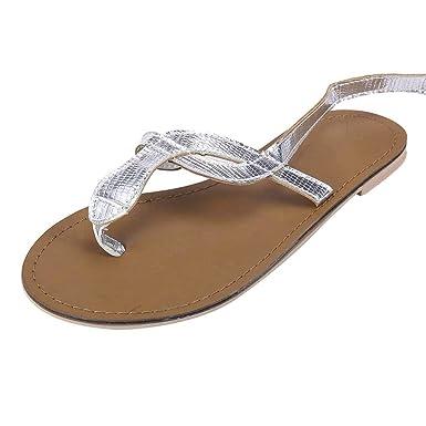 bc097c4e4b251 Amazon.com: Dainzuy Sandals for Women Summer Pinch Flat Sandals ...