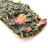 Tao Tea Leaf Cherry Rose Sencha Green Tea, 50g Premium Loose Tea Blend