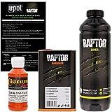 U-POL Raptor Safety Orange Urethane Spray-On Truck Bed Liner & Texture Coating, 1 Liter