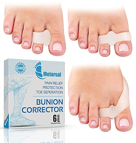 - Metarsal Bunion Corrector Support Kit, Soft Gel Toe Separators & Bunion Cushions, Protector Shield & Pads Orthopedic Bunion Splint, Fast Relief Toe Drift Comfort Treatment One Size Fits Most Pack of 6