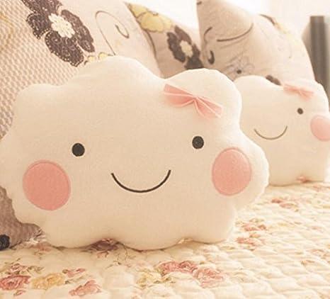 Amazon.com: WEIYI Lovely Smiley Face Cloud Shaped Cushion ...