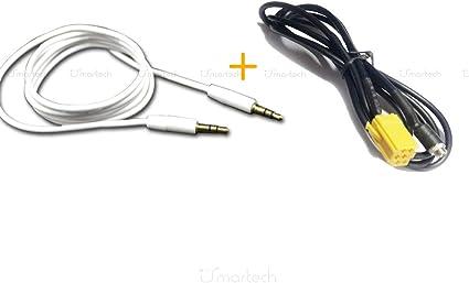 C/âble Audio Adaptateur de C/âble Audio AUX de voiture 3,5 mm pour Smart 450