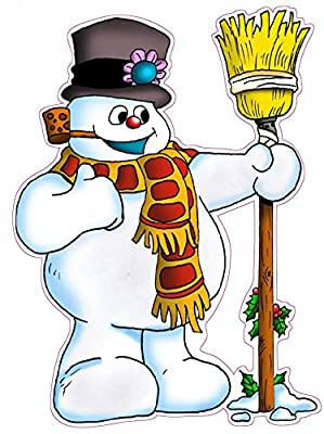 """Christmas and Holiday Wall Decor Frosty the Snowman Large 34"""" x 22"""" Decal Fast from the United States"""