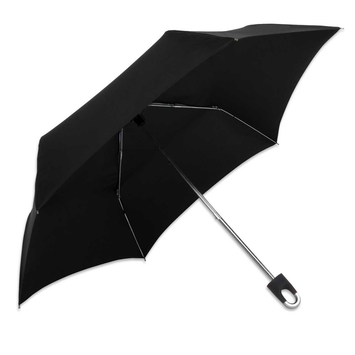 ShedRain Carabiner Clip Handle Compact Manual Umbrella: Black