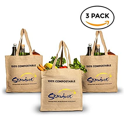 5133b5a23ac7 Amazon.com  Stardust Reusable Grocery Bags Plastic-Free