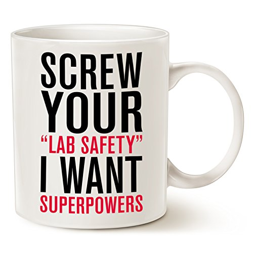 Funny Quote Coffee Mug Christmas Gifts - I Want Superpowers Funny Ceramic Cup White, 11 Oz by (Cute Cat Makeup Ideas For Halloween)