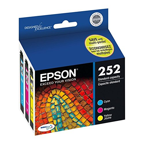 Epson T252520 DURABrite Ultra Standard-Capacity Color Ink Cartridge, Multipack (C/M/Y - 252) from Epson Corporation