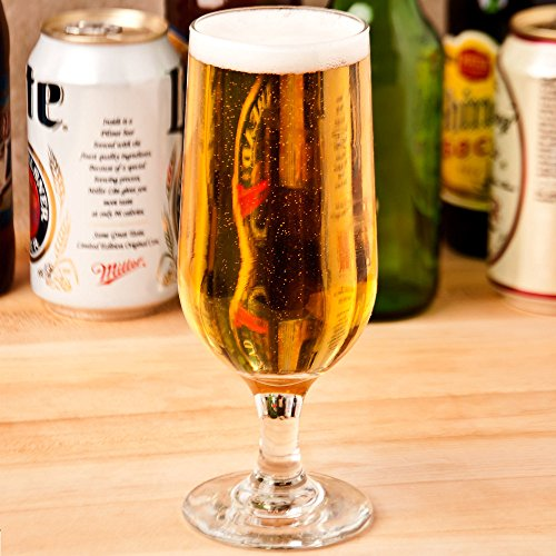Libbey 3728 Embassy 12 oz Beer Glass, SET OF 6 w/ HHS Party Picks