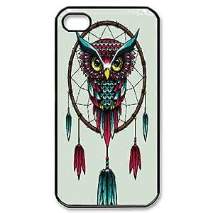 {owl Series} IPhone 4/4s Case Dreamcatchers Owl, Protector Case Zachcolo - Black