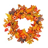 Sundlight Christmas Wreath, Fall Front Door Artificial Wreath for Home Window Mall Hotel Christmas,Thanksgiving,Halloween,Party Decor