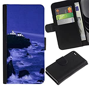 Ihec-Tech / Flip PU Cuero Cover Case para Apple Iphone 4 / 4S - Nature Beautiful Forrest Green 143
