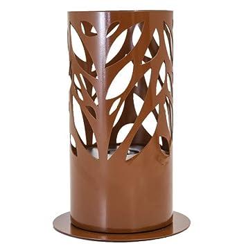 ELBA - Chimenea de mesa (800 W, bioetanol), color marrón: Amazon ...