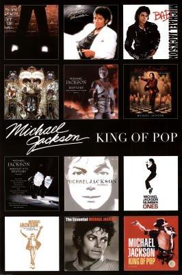 Michael Jackson Album Covers Poster Art Print
