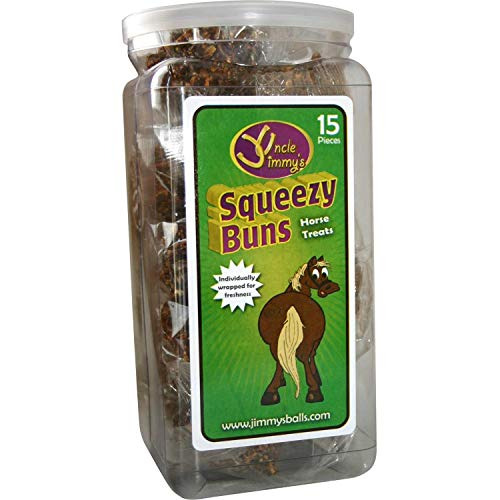 Uncle Jimmys Squeezy Buns Horse Treats 65 Pieces Clear by Uncle Jimmys (Image #1)