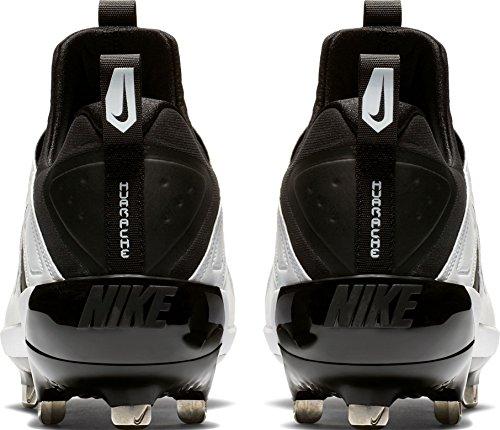 Nike Herren Alpha Huarache Elite Baseball Klampen uns schwarz / schwarz