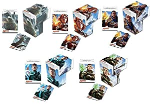 Oath of the Gatewatch Set of 5 New Ultra-Pro Deck Boxes Fits Magic, Pokemon, WoW, YuGiOh, Other Cards (Features All 5 Designs) Gideon, Kozilek. Nissa, Chandra, Jace MTG