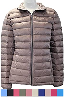 Harvey & Jones Lightweight Down Jacket Women's Puffer Coat Packable Water-Resistant Parka