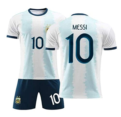 Traje de fútbol Local Argentino Messi # 10 tamaño Infantil y ...