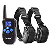 #5: Petrainer PET998DRB2 Dog Training Collar Rechargeable and Rainproof 330 yd Remote Dog Shock Collar with Beep, Vibra and Shock Electronic Collar