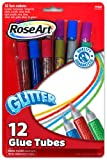 RoseArt Washable Glitter Glue Tubes, 12-Count, Assorted Colors, Packaging May Vary (40066UA-24)