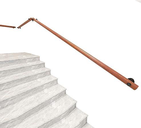 Barandilla de Madera Antideslizante para la Escalera, Incluye 2 Soportes de Montaje en Pared, reposabrazos de Seguridad para la Piscina Barra de Soporte del Pasillo Apoyo de Seguridad para Ancianos: Amazon.es: Hogar