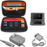 EEEKit 3in1 Starter Kit for NEW Nintendo 3DS XL SNES Edition, Travel Carrying Case Bag, HD Clear Screen Protector, Wall Charger Power AC Adapter