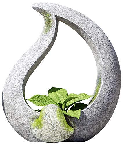 Dekojohnson Modern Garden Sculpture for Planting with Heart Decorative Flower Pot Plant Pot Stone Colour Garden Ornament…