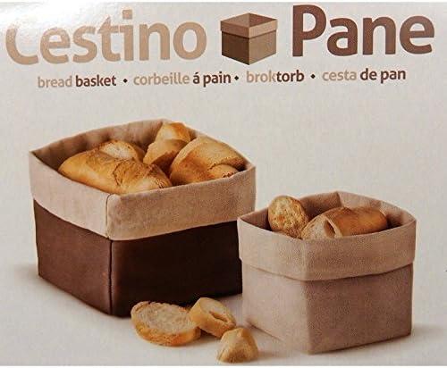 14/cm /Corbeille /à pain en tissu de coton marron taille 18/x 18/x H Fimel/