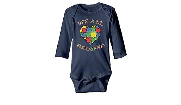 Amazon.com: TREEWw We All Belong Autism Awareness Heart Baby Boys Girls Long Sleeve Bodysuits Onesies: Clothing