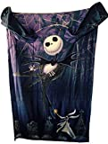 jack skellington blanket - The Nightmare Before Christmas Comfy Blanket with Sleeves ~ Jack Skellington & Zero ~ Unisex Adult Size