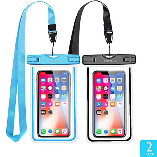 - Firstbuy Universal Waterproof Case Waterproof Phone Pouch IPX8 Dry Bag for iPhone 8/7/7 Plus/6S/6/6S Plus/SE/5S, Samsung Galaxy S8/S8 Plus/Note 8 6 5 4, Google Pixel 2 HTC LG Sony Moto - 2 Pack