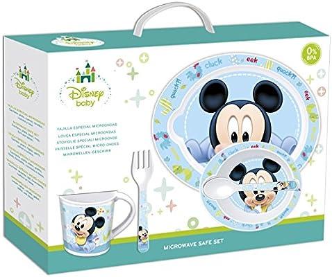 Disney Baby - Set de microondas, 5 piezas, diseño de Mickey Mouse ...