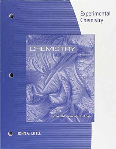 Lab Manual for Zumdahl/Zumdahl/DeCostes Chemistry, 10th Edition