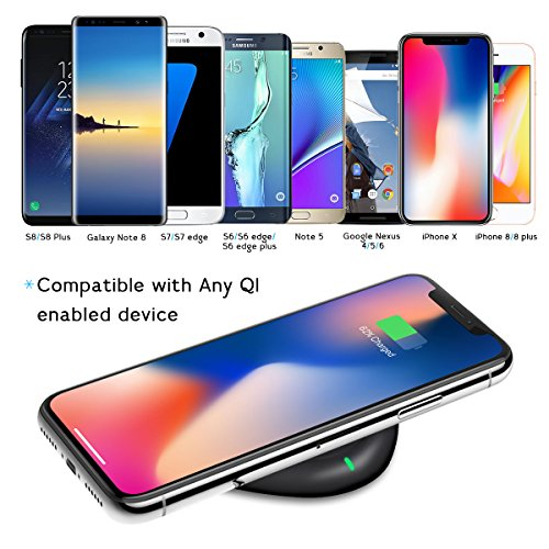 wireless charger yootech qi certified wireless charging pad compatible iphone xs ebay. Black Bedroom Furniture Sets. Home Design Ideas