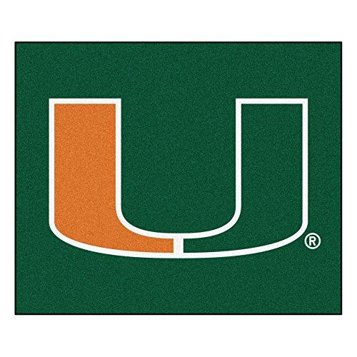 Fanmats NCAA University of Miami Hurricanes Nylon Face Tailgater Rug - Miami Hurricanes Tailgater