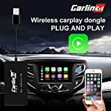 Carlinkit Wireless Carplay USB Dongle Wired Android auto Multimedia Receiver for aftermaket vihecle with Android System Unit Radio Upgrade Plug and Play(only Support Wireless carplay with iPhone)