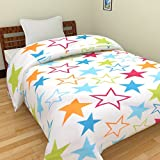 JaipurCrafts 220 TC Star Print Reversible Poly Cotton AC Comfort/Blanket/Quilt (Single Bed)