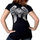 Hot Leathers GLD1040 BLACK, L Asphalt Angel Ladies