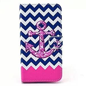YULIN Wave Anchor PU Leather Case with Card Slot for Samsung Galaxy S5 I9600
