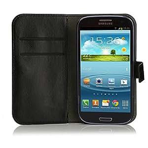 Mobiletto funda de piel para Samsung Galaxy S3 Mini color negro