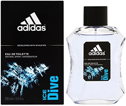 Adidas Ice Dive by Coty for Men 3.4 oz Eau de Toilette Spray