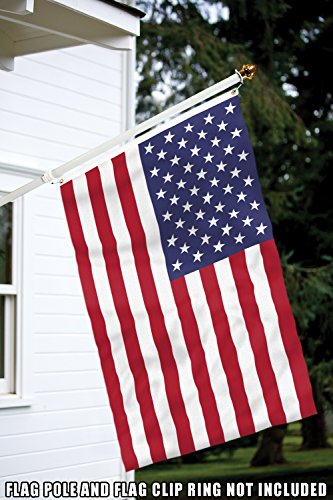 Toland Home Garden 3x5 ft American USA Polyester Flag with Brass Grommets and Double Stitched Reinforced Header