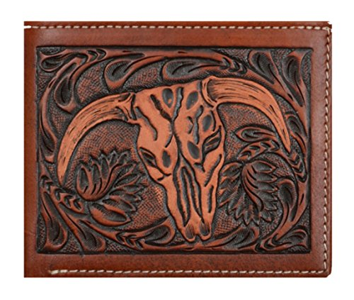 Cow Belt Custom Origional 3D Short Wallet Company amd Long Rodeo Skull Tan Checkbook Brown qg5Uvpgxw