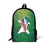 Hip Hop Dabbing Dab Dance Cute Unicorn Backpack For Child Girls Kids Book School Bags